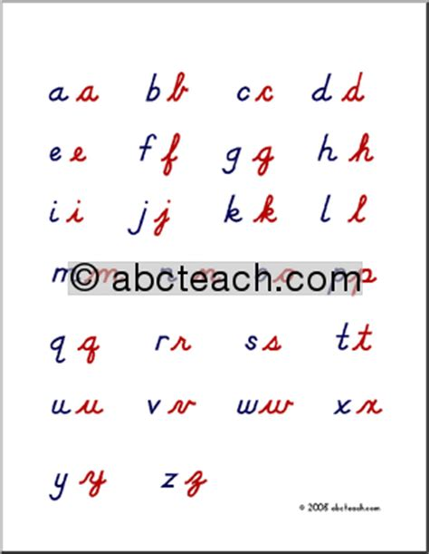 Cursive Handwriting Pages for Lowercase - This Reading Mama